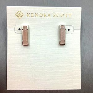 Kendra Scott Earrings Lady Silver Stud Pink Agate